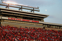 02 September 2017:   The moon appears over Hancock during the Butler Bulldogs at  Illinois State Redbirds Football game at Hancock Stadium in Normal IL (Photo by Alan Look)