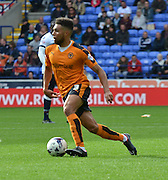 Scott Golbourne looks to find a way through the bolton back four during the Sky Bet Championship match between Bolton Wanderers and Wolverhampton Wanderers at the Macron Stadium, Bolton, England on 12 September 2015. Photo by Mark Pollitt.