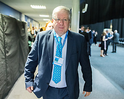 © Licensed to London News Pictures . 17/03/2017 . Cardiff , UK. PATRICK McLOUGHLIN at the Conservative Party Spring Conference at the SSE SWALEC Stadium in Cardiff . Photo credit: Joel Goodman/LNP