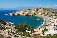 Grece, Crete, plage de Matala // Greece, Crete, Matala beach