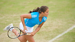 LIVERPOOL, ENGLAND - Friday, June 19, 2009: Laura Robson (GBR) during Day Three of the Tradition ICAP Liverpool International Tennis Tournament 2009 at Calderstones Park. (Pic by David Rawcliffe/Propaganda)