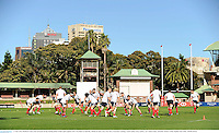 13 June 2013; British & Irish Lions forwards during training ahead of their game against NSW Waratahs on Saturday. British & Irish Lions Tour 2013, Forwards Training, North Sydney Oval, Sydney, New South Wales, Australia. Picture credit: Stephen McCarthy / SPORTSFILE