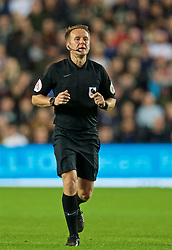 MILTON KEYNES, ENGLAND - Wednesday, September 25, 2019: Referee Oliver Langford during the Football League Cup 3rd Round match between MK Dons FC and Liverpool FC at Stadium MK. (Pic by David Rawcliffe/Propaganda)