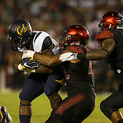 10 September 2016: The San Diego State Aztecs football team hosts Cal in their second game of the season.  The Aztecs lead 31-21 at halftime.