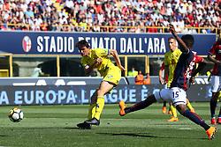 """Foto Filippo Rubin<br /> 13/05/2018 Ferrara (Italia)<br /> Sport Calcio<br /> Bologna - Chievo Verona - Campionato di calcio Serie A 2017/2018 - Stadio """"Renato Dall'Ara""""<br /> Nella foto: GOAL CHIEVO ROBERTO INGLESE (CHIEVO VERONA)<br /> <br /> Photo by Filippo Rubin<br /> May 13, 2018 Ferrara (Italy)<br /> Sport Soccer<br /> Bologna vs Chievo Verona - Italian Football Championship League A 2017/2018 - """"Renato Dall'Ara"""" Stadium <br /> In the pic: GOAL CHIEVO ROBERTO INGLESE (CHIEVO VERONA)"""