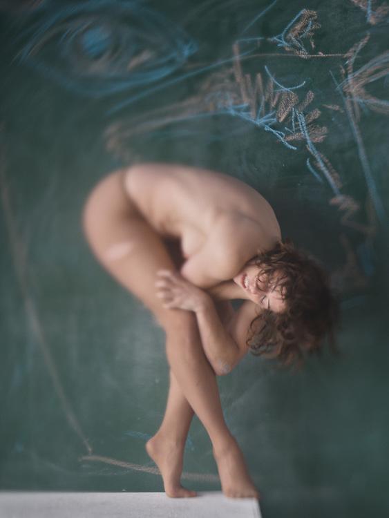 With Katlyn Lacoste; chalk artwork by Katlyn