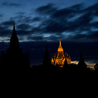 Thatbyinnyu temple before sunrise, Bagan, Myanmar, 2016