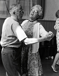 Elderly tea dance, Nottingham, UK 1980s