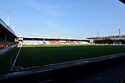 Scunthorpe United ground before the Sky Bet League 1 match between Scunthorpe United and Bury at Glanford Park, Scunthorpe, England on 19 April 2016. Photo by Ian Lyall.