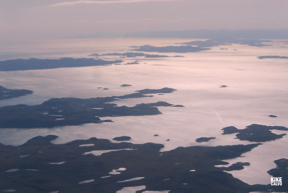 Aerial views of Nunavut Territory. High Arctic in the summer time. Canada.
