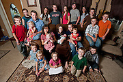 The Duggar family following the birth of the second grandchild in June 2011...