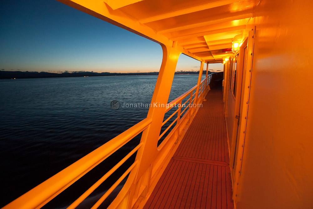 View from a cruise ship on the Inside Passage of British Columbia.