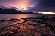 Sunset over Loch Torridon, Wester Ross, Scotland.