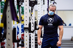 Ed Holmes in action in the gym as Bristol Bears start to use their new almost completed Training centre - Rogan/JMP - 08/07/2020 - RUGBY UNION - Beggar Bush Lane - Bristol, England.