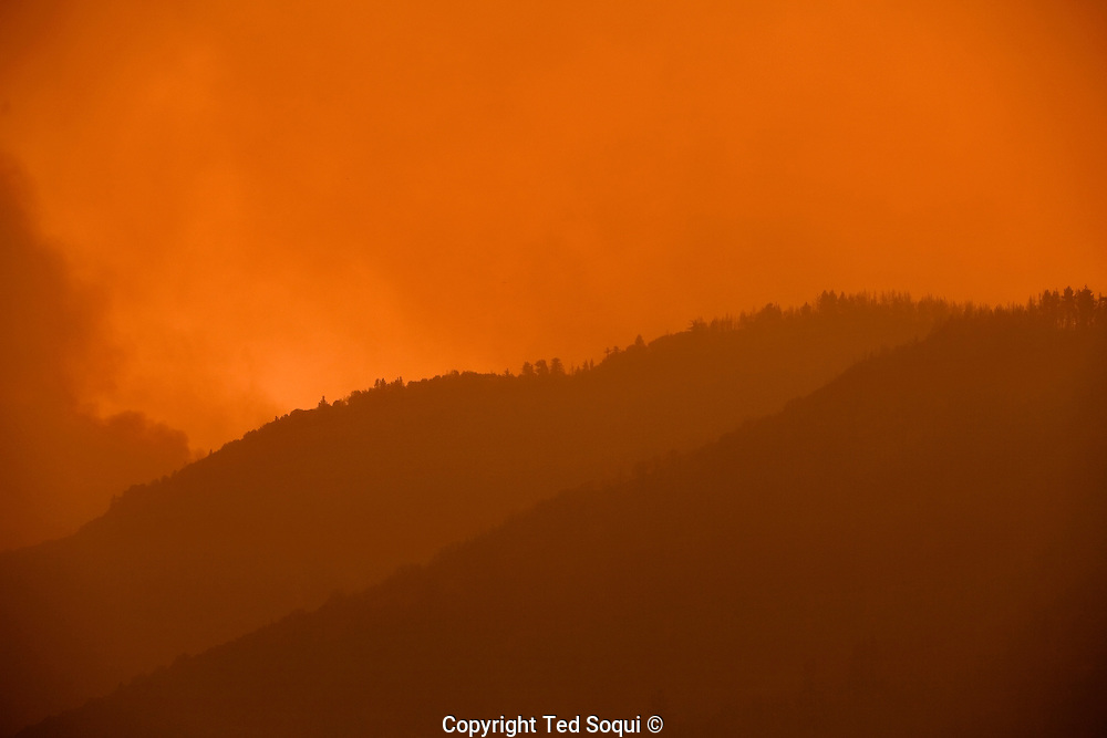 A smoky mountain in the Angeles Forest. Station Fire..