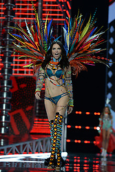 Adriana Lima on the catwalk for the Victoria's Secret Fashion Show at the Mercedes-Benz Arena in Shanghai, China.