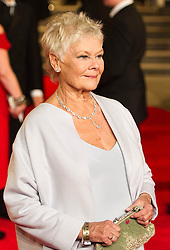 Judi Dench nominated  best leading actress for the Oscars 2014.<br /> Dame Judy Dench attends the Royal World Premiere of 'Skyfall' at Royal Albert Hall, London, England, October 23, 2012. Photo by Ki Price / i-Images...Outside UK Only