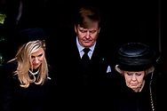 21 -3-2017 BAD BERLEBURG - King Willem-Alexander, Queen Beatrix and Princess Maxima , Princess Benedikte of Denmark<br /> Prince Gustav zu Sayn-Wittgentein-Berleburg and Carina Axelsson<br /> Princess Alexandra zu Sayn-Wittgentein-Berleburg and Carina Axelsson and Count Jefferson<br /> Princess Nathalie zu Sayn-Wittgentein-Berleburg and Alexander Johannsmann Queen Anne-Marie and Princess Theodora of Greece, King Constantine and Queen Anne-Marie and Princess Theodora of Greece<br /> Crown Prince Pavlos and Crown Princess Marie Chantal of Greece<br /> Prince and Nikolaos and Princess Tatiana of Greece ,  Princess Martha Louise of Norway Queen Margrethe and Prince Henrik of Denmark<br /> Crown Prince Frederik and Crown Princess Mary of Denmark<br /> Prince Joachim and Princess Marie of Denmark Queen Silvia of Sweden<br /> Princess Madeleine of Sweden are Tuesday at the Evangelical City Church of Bad Berleburg attended the memorial service for Prince Richard of Sayn-Wittgenstein-Berleburg. The husband of the Danish Princess Benedikte and brother of Queen Margrethe died last Monday at the age of 82. COPYRIGHT ROBIN UTRECHT<br /> 21 -3-2017 BAD BERLEBURG &ndash; Koning Willem-Alexander, koningin Maxima en prinses Beatrix zijn dinsdagmiddag in de Evangelische Stadskerk van Bad Berleburg aanwezig bij de rouwdienst voor prins Richard zu Sayn-Wittgenstein-Berleburg. De echtgenoot van de Deense prinses Benedikte en zwager van koningin Margrethe overleed vorige week maandag op 82-jarige leeftijd. COPYRIGHT ROBIN UTRECHT