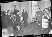 """Pledge"" Reception at Shelbourne Hotel.<br /> 20.04.1961"