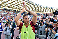 Francesco Totti waves the fans saluta i tifosi <br /> Roma 28-05-2017 Stadio Olimpico Football Calcio Serie A 2016/2017 AS Roma - Genoa  Foto Andrea Staccioli / Insidefoto