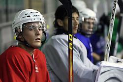 Matic Modic at second ice hockey practice of HDD Tilia Olimpija on ice in the new season 2008/2009, on August 19, 2008 in Hala Tivoli, Ljubljana, Slovenia. (Photo by Vid Ponikvar / Sportal Images)