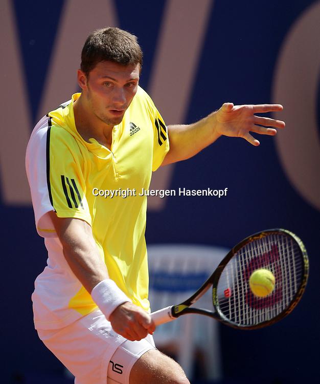 BMW Open 2009, Muenchen, Sport, Tennis,  International Series ATP  Tournament,  Daniel Brands (GER), Aktion..Foto: Juergen Hasenkopf