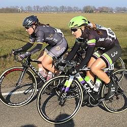 13-03-2016: Wielrennen: Acht van Dwingeloo: Dwingeloo<br />DWINGELOO (NED) wielrennen  <br />Leah Kirchman, Chloe Hosking