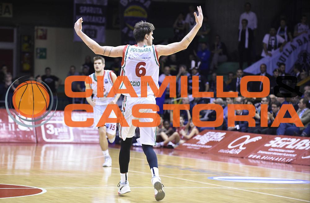 Reggio Emilia (RE)  03 Febbraio 2016<br /> <br /> Basket Eurocup 2015-2016<br /> <br /> NELLA FOTO:   Achille Polonara<br /> <br /> FOTO: A.Giberti/Ciamillo