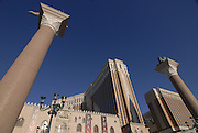 Outside view of the Venetian, huge casino in Las Vegas