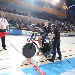 18-12-2016: Wielrennen: NK baanwielrennen: Apeldoorn<br />APELDOORN (NED) wielrennen  <br />Kyra Lamberink heeft de 500 meter gewonnen op het NK Baanwielrennen. De Bergentheimse bleef Shanne Braspennincx (zilver) en Laurine van Riessen (brons) voor.