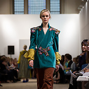 13.05.2016.           <br /> A model showcases designs by Sarah Fanning titled 'Romanov'  at the much anticipated Limerick School of Art & Design, LIT, (LSAD) Graduate Fashion Show on Thursday 12th May 2016. The show took place at the LSAD Gallery where 27 graduates from the largest fashion degree programme in Ireland showcased their creations. Ranked among the world's top 50 fashion colleges, Limerick School of Art and Design is continuing to mold future Irish designers.. Picture: Alan Place/Fusionshooters