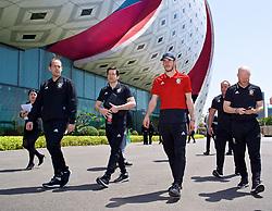 NANNING, CHINA - Tuesday, March 20, 2018: Wales' Gareth Bale during a team walk at the Wanda Realm Resort ahead of the 2018 Gree China Cup International Football Championship. (Pic by David Rawcliffe/Propaganda)