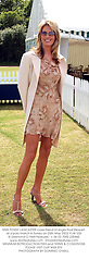 MISS PENNY LANCASTER close friend of singer Rod Stewart, at a polo match in Surrey on 25th May 2003.PJW 235