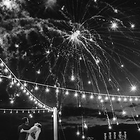 Lesha & Tim's dancing under the fireworks at Club Regina Resort in Puerto Vallarta. Fearless Award Photo by: Melissa Suneson.