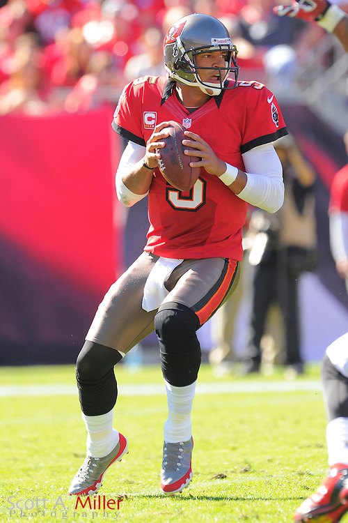 Tampa Bay Buccaneers quarterback Josh Freeman (5) during an NFL game against the Atlanta Falcons at Raymond James on November 25, 2012 in Tampa, Florida. ...©2012 Scott A. Miller..
