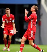 Michael Cuisance #11 von FC Bayern Muenchen, Thomas Müller Mueller #25 von FC Bayern Muenchen During the Bayern Munich vs SC Freiburg Bundesliga match  at Allianz Arena, Munich, Germany on 20 June 2020.