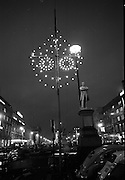 14th December 1967 Christmas lights and decorations, O'Connell Street and Henry Street, Dublin.