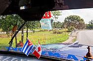 Truck interior in Jiguani, Granma, Cuba.