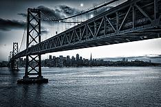San Francisco Cityscapes from Treasure Island Marin Headlands Golden Gate Bridge