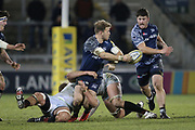 Sale Shark's Sam James (Capt) during the Aviva Premiership match between Sale Sharks and Saracens at the AJ Bell Stadium, Eccles, United Kingdom on 16 February 2018. Picture by George Franks.