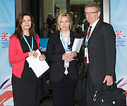 Conservative Party Conference, ICC, Birmingham, Great Britain <br /> Day 3<br /> 9th October 2012 <br /> <br /> Jacqui Hames<br /> Charlotte Church<br /> Brian Cathcart <br /> <br /> <br /> Photograph by Elliott Franks<br /> <br /> United Kingdom<br /> Tel 07802 537 220 <br /> elliott@elliottfranks.com<br /> <br /> ©2012 Elliott Franks<br /> Agency space rates apply