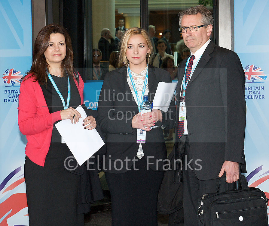 Conservative Party Conference, ICC, Birmingham, Great Britain <br /> Day 3<br /> 9th October 2012 <br /> <br /> Jacqui Hames<br /> Charlotte Church<br /> Brian Cathcart <br /> <br /> <br /> Photograph by Elliott Franks<br /> <br /> United Kingdom<br /> Tel 07802 537 220 <br /> elliott@elliottfranks.com<br /> <br /> &copy;2012 Elliott Franks<br /> Agency space rates apply