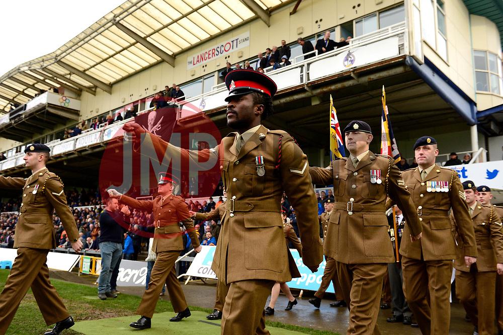 Bristol Rovers memorial game - Mandatory by-line: Dougie Allward/JMP - 18/11/2017 - FOOTBALL - Memorial Stadium - Bristol, England - Bristol Rovers v AFC Wimbledon - Sky Bet League One