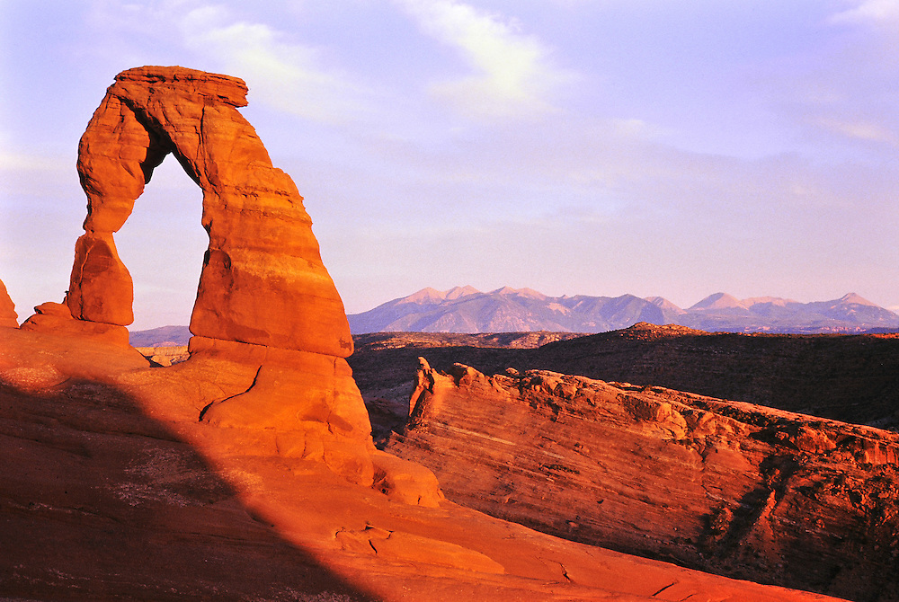 Sunset, Delicate Arch. Arches National Park, Utah
