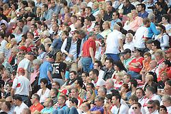 30.08.2014, Mercedes Benz Arena, Stuttgart, GER, 1. FBL, VfB Stuttgart vs 1. FC Köln, 2. Runde, im Bild Viele Zuschauer verlassen fruehzeitig die Mercedes Benz Arena. // during the German Bundesliga 2nd round match between VfB Stuttgart and 1. FC Cologne at the Mercedes Benz Arena in Stuttgart, Germany on 2014/08/30. EXPA Pictures © 2014, PhotoCredit: EXPA/ Eibner-Pressefoto/ Stuetzle<br /> <br /> *****ATTENTION - OUT of GER*****