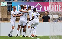 Josh Knight of Peterborough United celebrates scoring his goal with team-mates - Mandatory by-line: Joe Dent/JMP - 05/10/2019 - FOOTBALL - Adam's Park - High Wycombe, England - Wycombe Wanderers v Peterborough United - Sky Bet League One