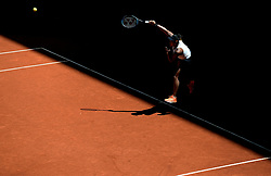 May 9, 2019 - Madrid, Spain - Naomi Osaka(JPN) in her match against Belinda Bencic (SWI) during day six of the Mutua Madrid Open at La Caja Magica in Madrid on 9th May, 2019. (Credit Image: © Juan Carlos Lucas/NurPhoto via ZUMA Press)
