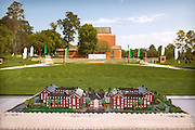A cake displays a replica of the Ohio University Residential Housing Phase 1 construction during the opening ceremony and ribbon cutting event on Saturday, August 29, 2015 at the Living Learning Center on the Ohio University campus in Athens, Ohio.