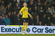 Sheffield Wednesday goalkeeper Cameron Dawson (25) pointing, shouting, directing, signalling during the The FA Cup match between Queens Park Rangers and Sheffield Wednesday at the Kiyan Prince Foundation Stadium, London, England on 24 January 2020.