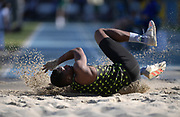 Apr 14, 2018; Los Angeles, CA, USA; Alexander Hammond places fifth in the triple jump at 49-5 3/4 (15.08m) during the Rafer Johnson/Jackie joyner-Kersee Invitationalat Drake Stadium.